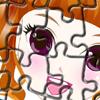 Joc de puzzle cu fetita dulce